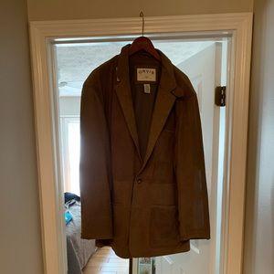 NWOT Orvis leather blazer size 48